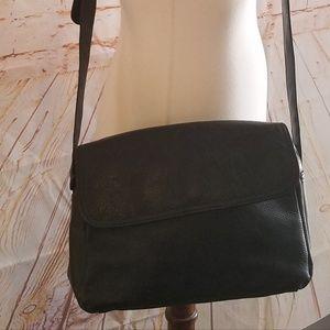 Aurielle Leather Black Crossbody